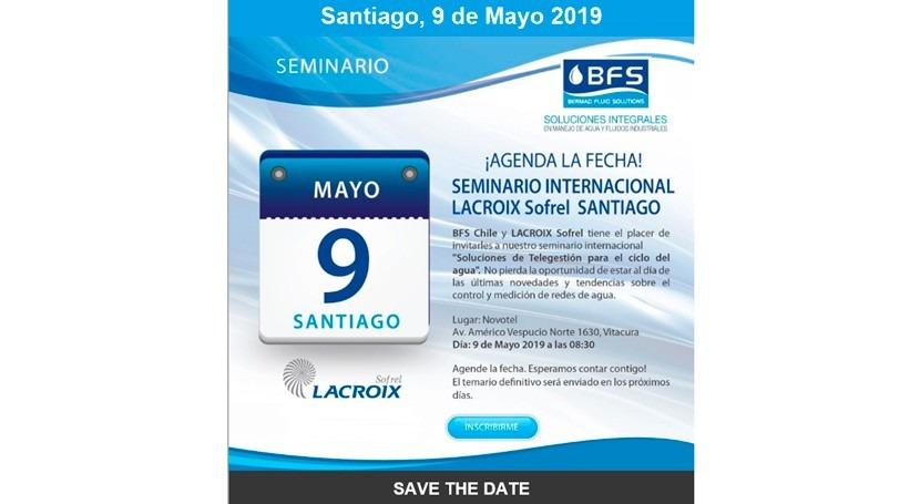 """Sofrel organiza Chile seminario """"Soluciones Telegestión ciclo agua"""""""