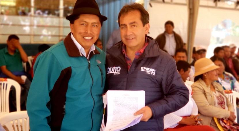 Agua Quito recibió resoluciones autorización uso agua parte SENAGUA