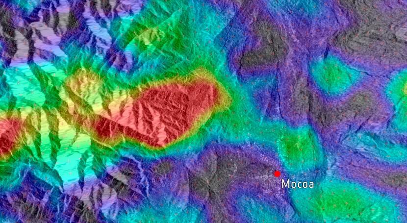 radar Sentinel-1 captó avalancha Mocoa