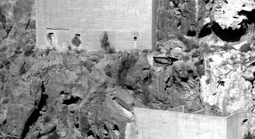 Otro patrimonio agua defender: estructuras auxiliares presas [Gran Canaria]