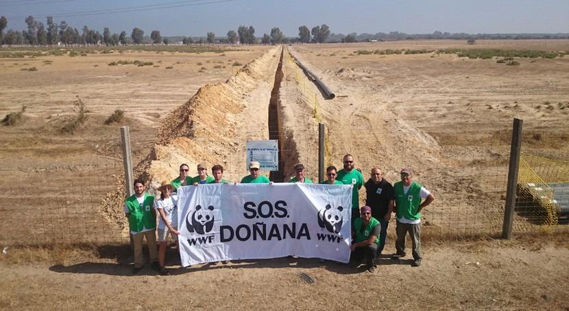 Más 100.000 personas todo mundo piden protección Doñana