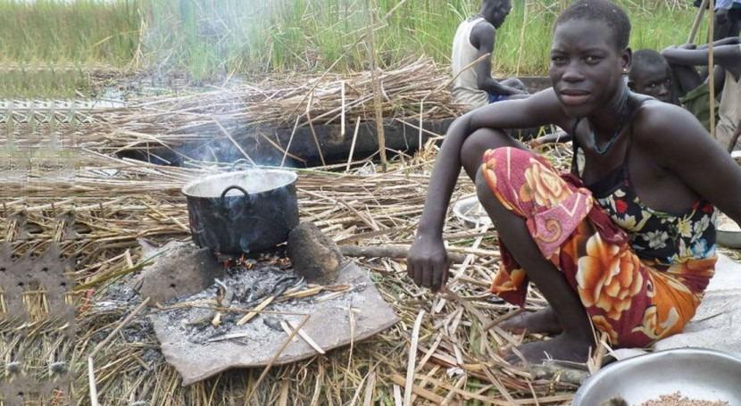 insuficientes lluvias y conflicto civil agravan escasez alimentos Sudán Sur