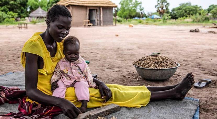 inundaciones pasado año Sudán Sur empeoran seguridad alimentaria