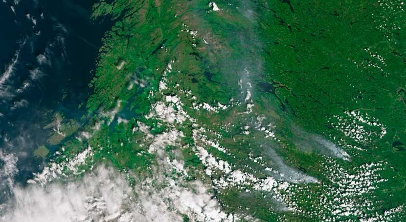mayor sequía años provoca incendios norte Europa