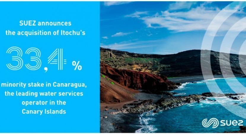 Suez adquiere 33,4% empresa servicios agua Canaragua 37 millones euros
