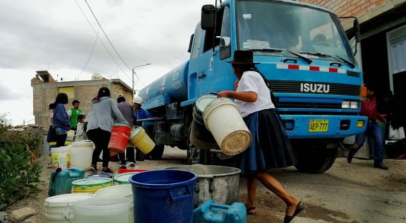 Sunass verifica acción proyección social abastecer agua potable
