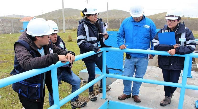 SUNASS supervisó control procesos tratamiento agua Emapa Pasco