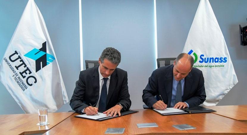 Sunass y UTEC realizarán acciones conjuntas mejorar saneamiento y calidad agua