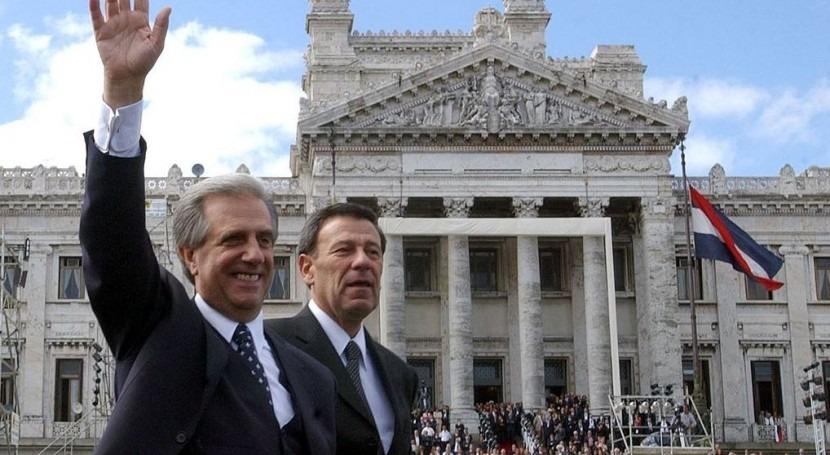 Tabare Vázquez presidirá Uruguay a partir del 1 de marzo. En la foto con el futuro vicepresidente Danilo Astori