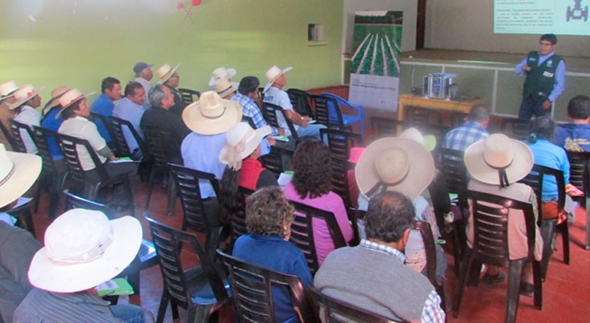 Perú conciencia agricultores gestión integral agua riego Iray
