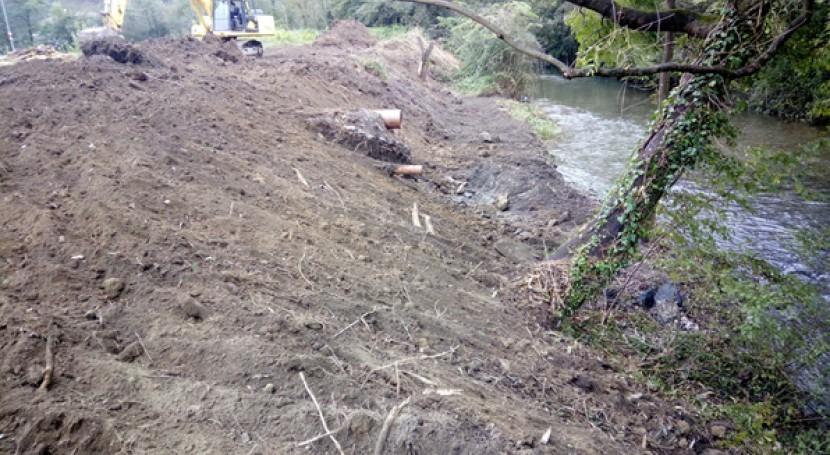 Ayuntamiento Azpeitia y URA restauran zona Antzibarrena, río Ibaieder, Gipuzkoa