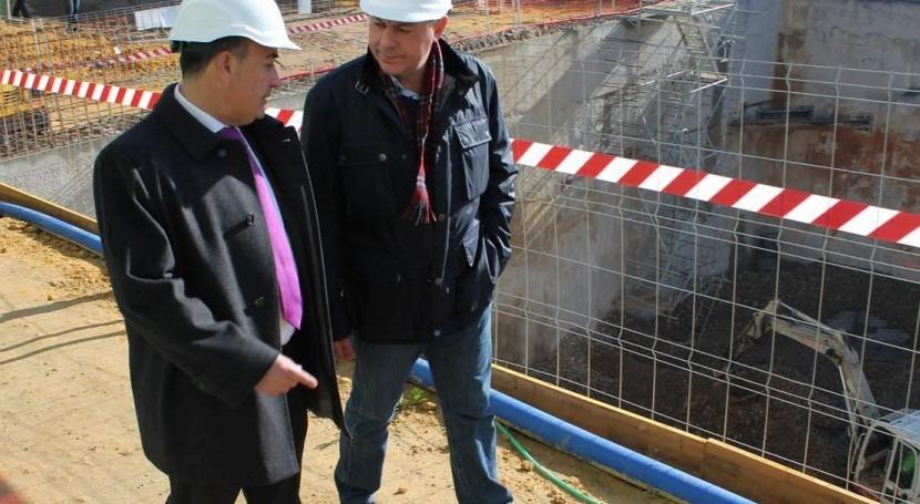 obras tanque tormentas Tomares, que se encuentran al 70% ejecución, finalizarán abril