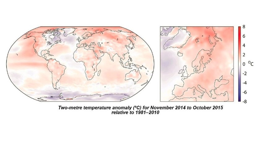 programa europeo Copernicus confirma registro año más caliente Tierra