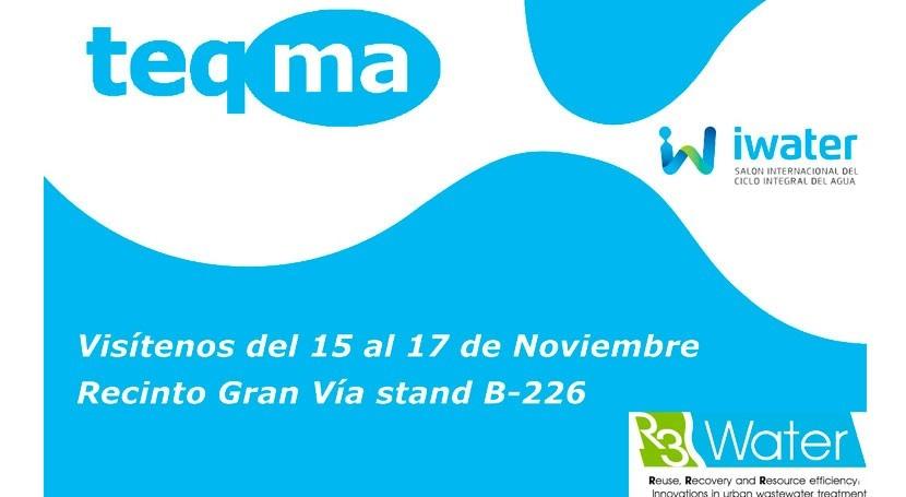 teqma estará presente primera edición salón Iwater Barcelona