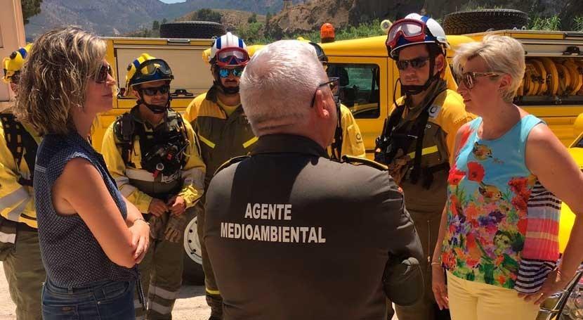 Murcia extrema acciones detección incendios riberas río Segura