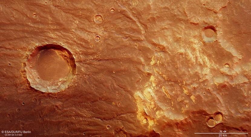 Marte conserva pasado volcánico signos interacción hielo y agua