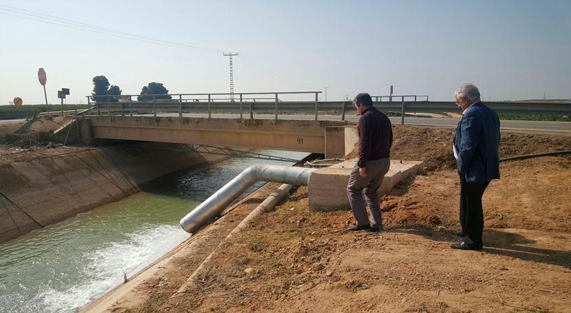regantes campo Cartagena reciben primeros caudales agua Escombreras