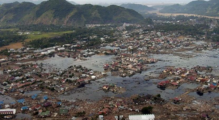 Efectos del tsunami de 2005 en Sumatra (Wikipedia/CC)