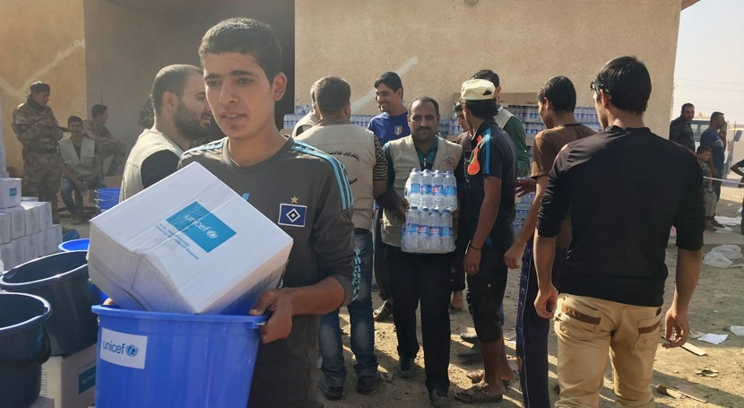 agua potable llega Mosul medio conflicto iraquí