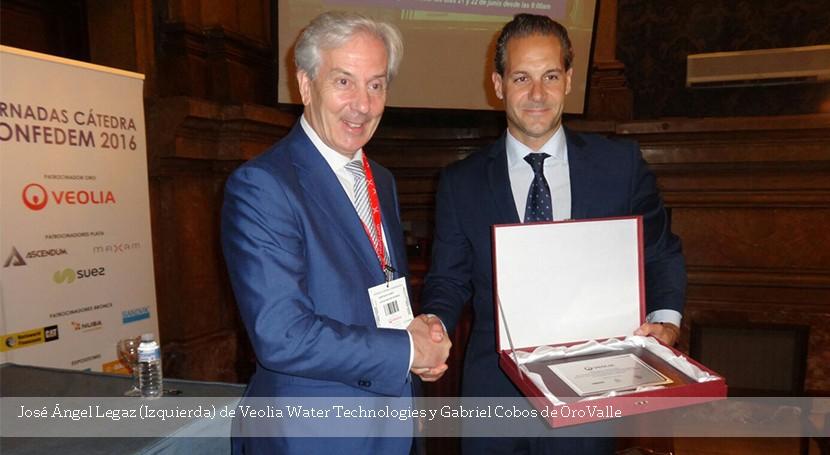 Veolia Water Technologies entrega premio Sostenibilidad Minería Cátedra CONFEDEM