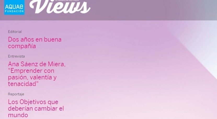 Nuevo número Aquae Views nuevo formato y contenidos