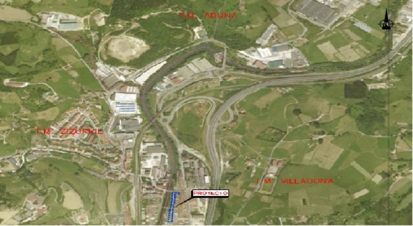 URA licita conexión colector calle mayor Villabona y río Oria al principal