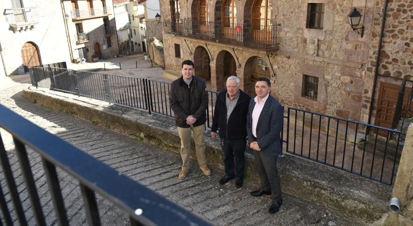 Continúa mejora abastecimiento agua y accesibilidad Villanueva Cameros
