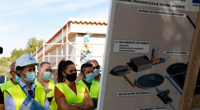 Reforma EDAR alicantina Villena: menos olores y agua regenerada regantes