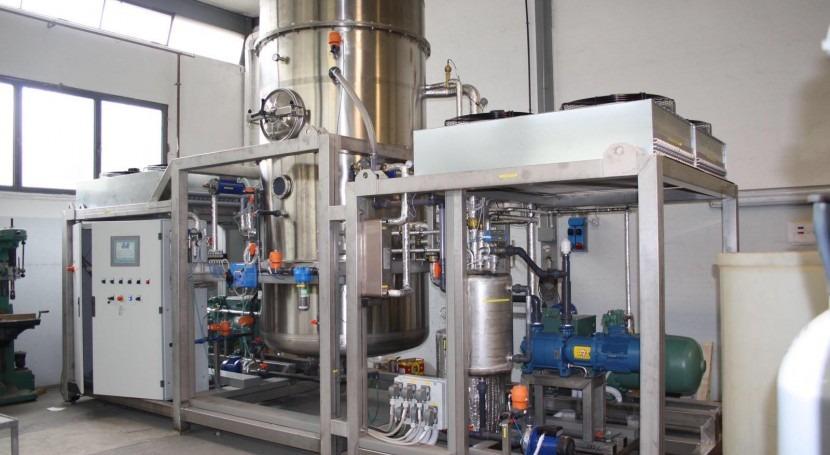 evaporación al vacío, tecnología reducción residuos y reutilización agua
