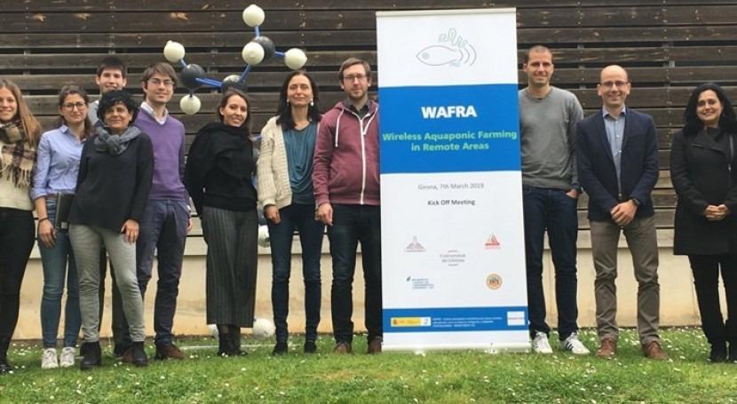 Proyecto WAFRA: sistema acuapónico producir pescado y verduras forma sostenible