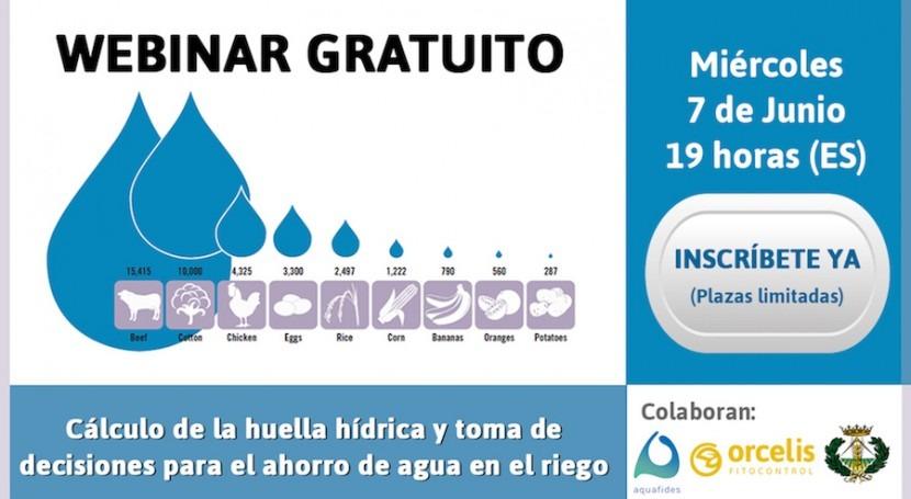 Webinar gratuito: Cálculo huella hídrica, toma decisiones y ahorro agua riego