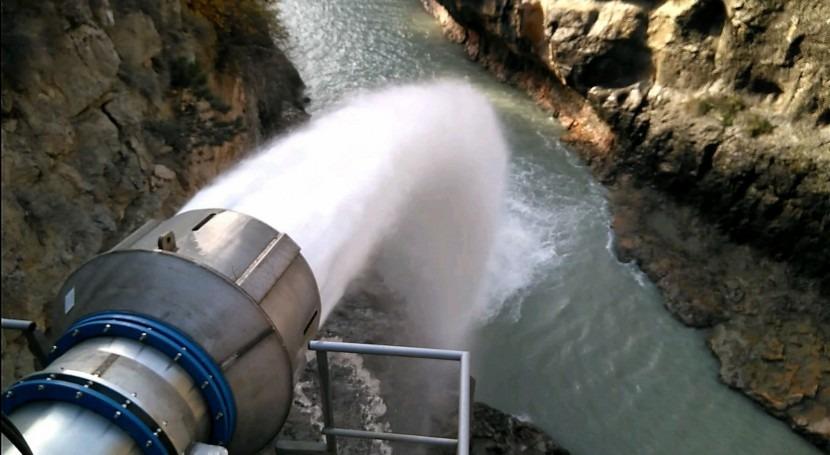 Control caudal ecológico aguas abajo Embalse Barasona