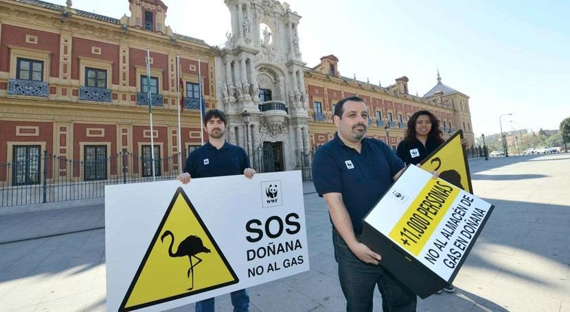 Organizaciones ecologistas exigen paralización almacén Gas Natural Doñana