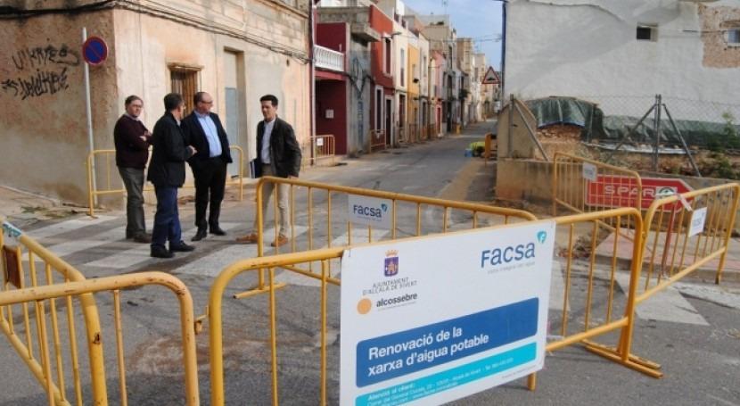 FACSA renueva red conducciones agua potable Alcalà-Alcossebre