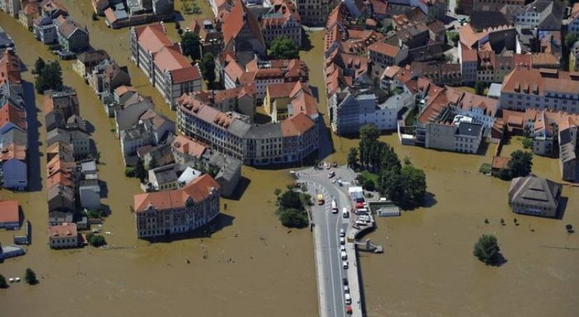 Inundación en Europa Central.
